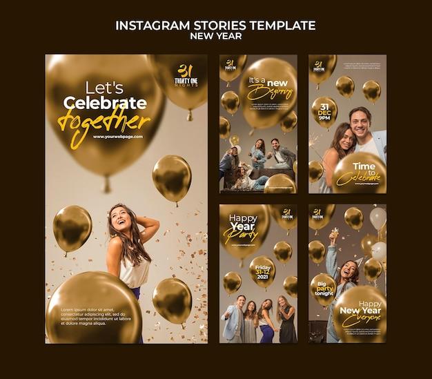 Collection d'histoires ig de célébration du nouvel an