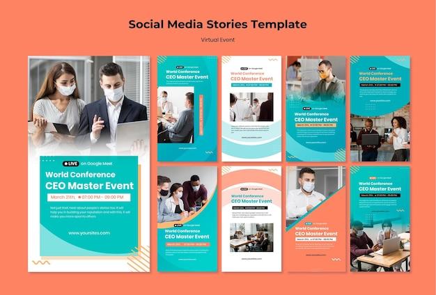 Collection d'histoires instagram pour la conférence événementielle du chef de la direction