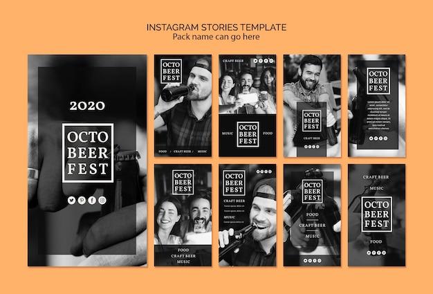 Collection D'histoires Instagram Pour Le Festival D'octobre Psd gratuit