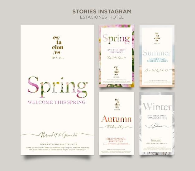 Collection d'histoires instagram pour l'hôtellerie