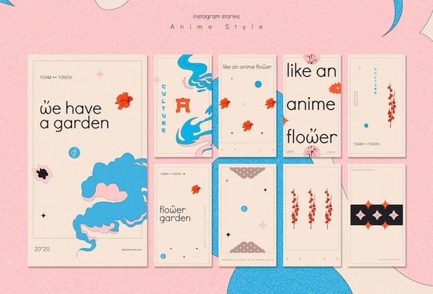 Collection d'histoires instagram pour jardin de fleurs