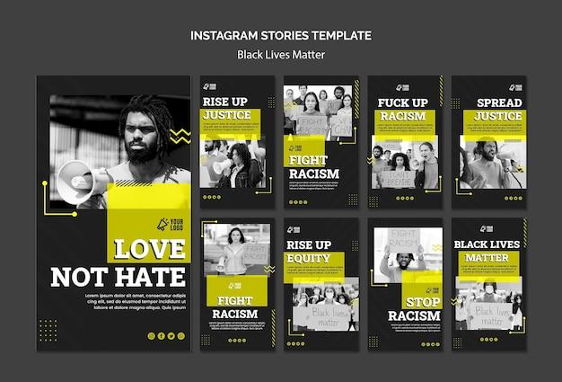 Collection d'histoires instagram pour lutter contre le racisme
