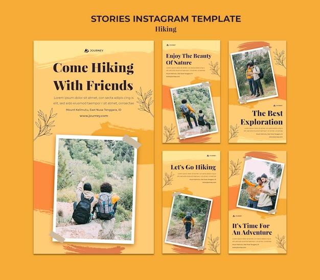 Collection d'histoires instagram pour la randonnée