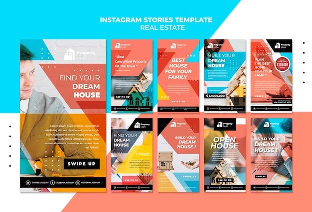 Collection d'histoires instagram pour une société immobilière