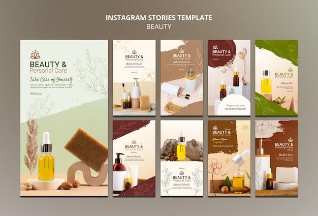 Collection d'histoires instagram pour les soins personnels et la beauté