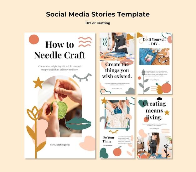 Collection d'histoires instagram pour des tutoriels de bricolage