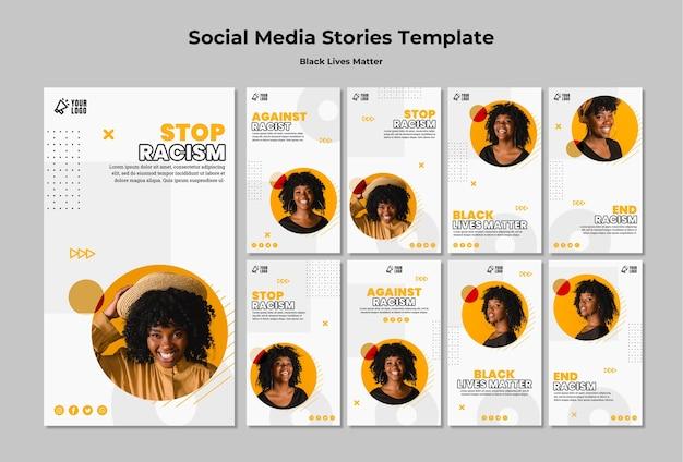 La collection d'histoires instagram pour les vies noires compte