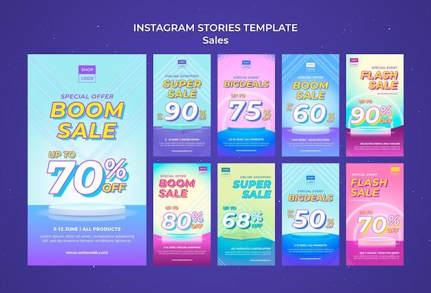 Collection d'histoires instagram en super vente