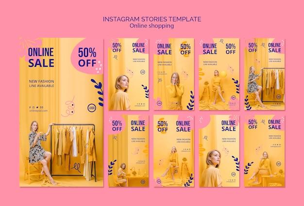 Collection d'histoires instagram en vente en ligne