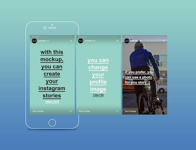 Collection d'histoires instagram