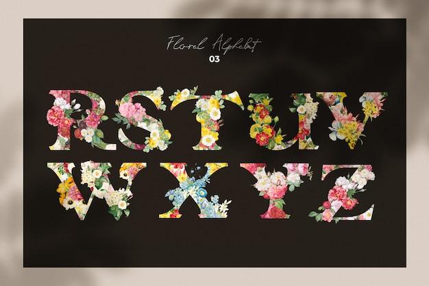 Collection de lettres de fleurs