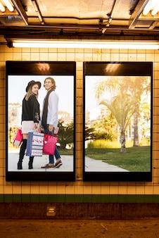 Collection de maquettes de panneaux publicitaires