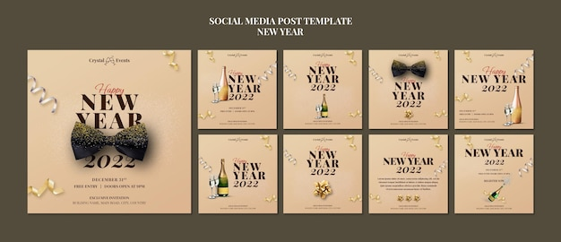 Collection de messages instagram pour la fête du nouvel an