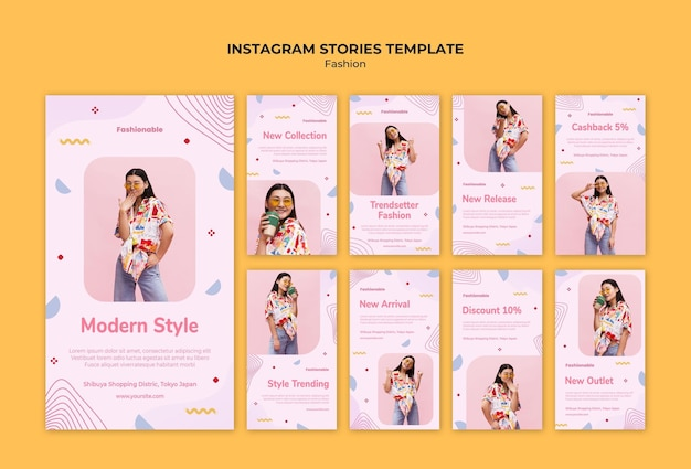 Collection de mode histoires instagram