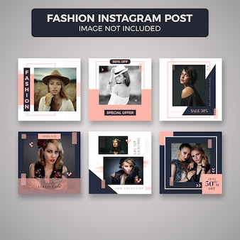 Collection de modèles de mode instagram