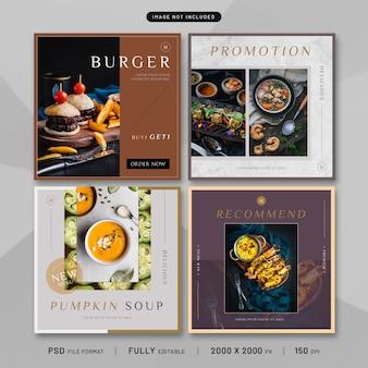 Collection de modèles de publication d'aliments sains