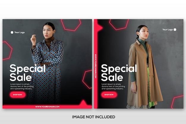 Collection de modèles de publication de mode instagram