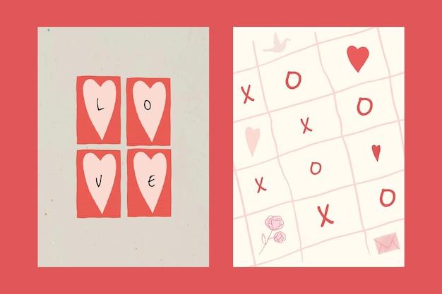 Collection psd de modèles de médias sociaux pour la saint-valentin