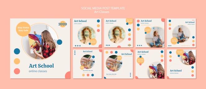 Collection de publications instagram de l'école d'art