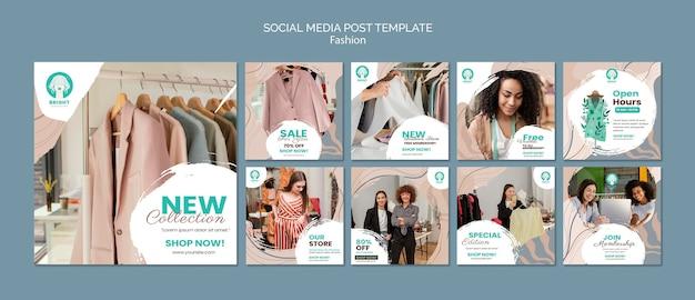 Collection de publications instagram pour la collection de mode