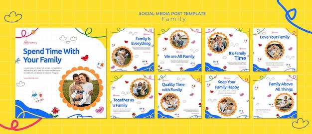 Collection de publications instagram pour du temps en famille de qualité