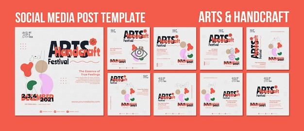 Collection de publications instagram pour le festival des arts et métiers