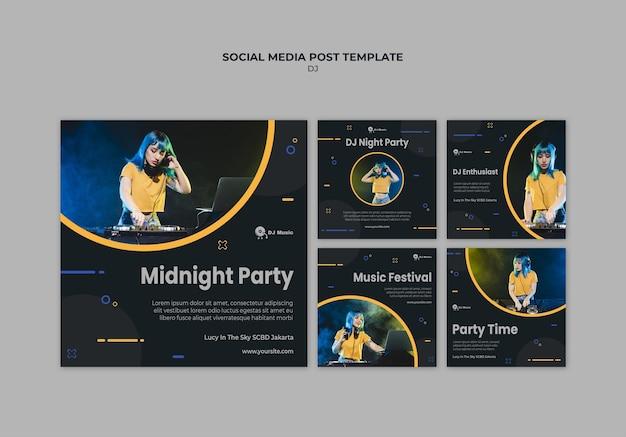 Collection de publications instagram pour le festival de musique
