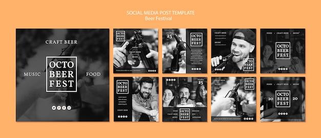 Collection de publications instagram pour le festival d'octobre