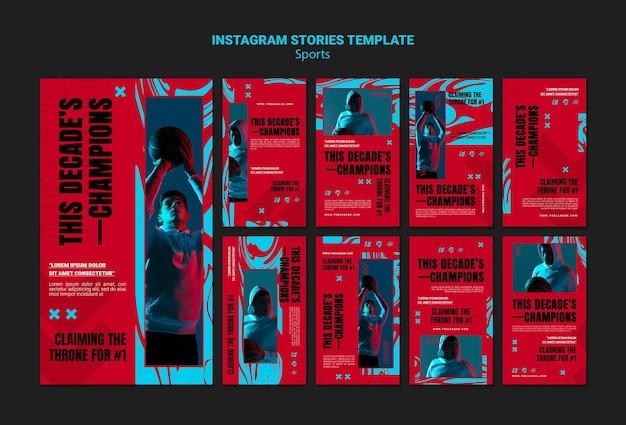 Collection de publications instagram pour match de basket
