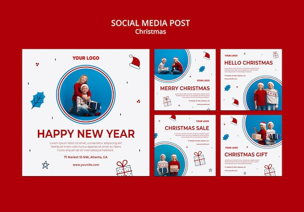 Collection de publications instagram pour noël