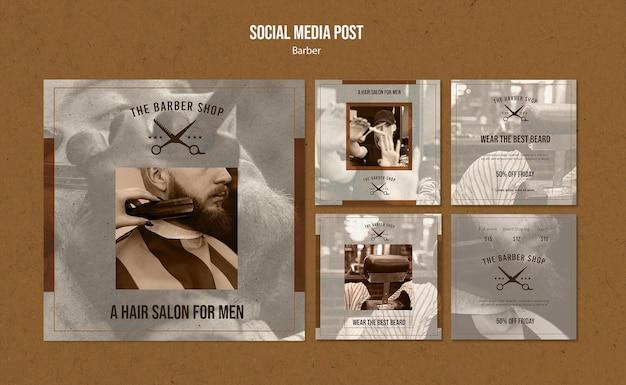 Collection de publications instagram pour salon de coiffure
