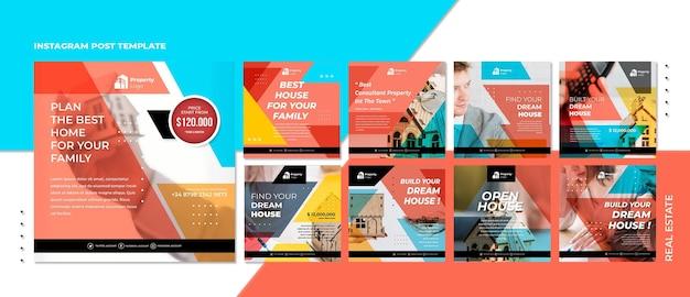 Collection de publications instagram pour une société immobilière