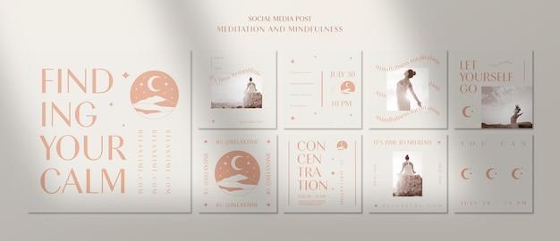 Collection de publications instagram pour trouver votre calme