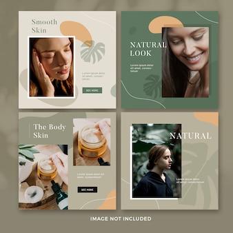 Collection de publications sur les réseaux sociaux nature psd premium