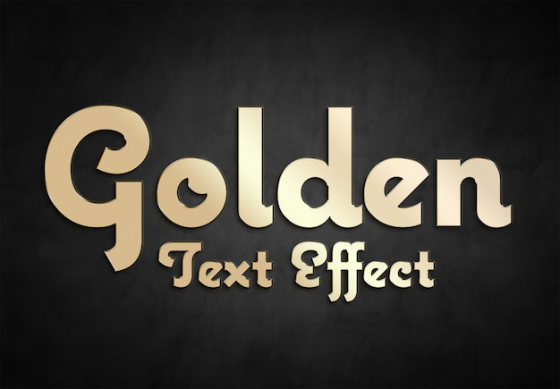 Collection de style effet texte or