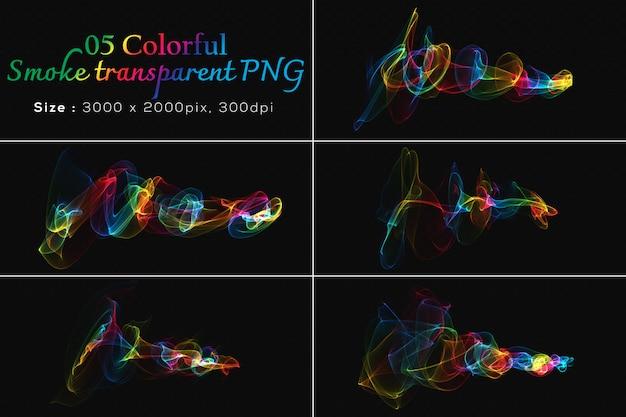 Collection transparente de fumée colorée