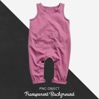Combinaison rose pour bébé ou enfants sur fond transparent