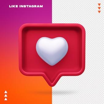 Comme instagram isolé