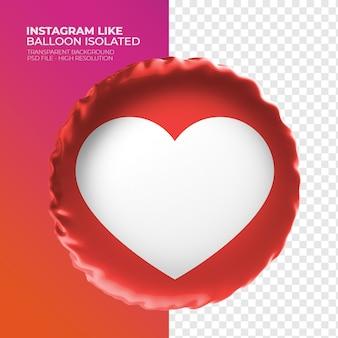Comme isntagram heart balloon 3d