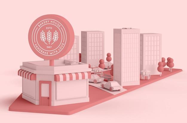 Commercial Extérieur Pour Boulangerie Psd gratuit