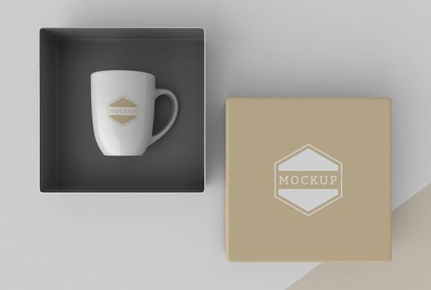 Composition de la boîte à mugs maquette