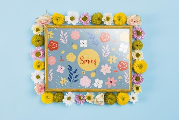 Composition de cadre floral pour le printemps
