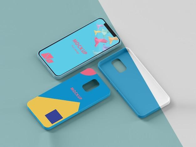 Composition créative de la maquette de la coque du téléphone
