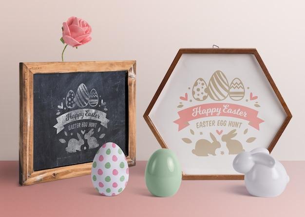 Composition créative de la maquette de pâques
