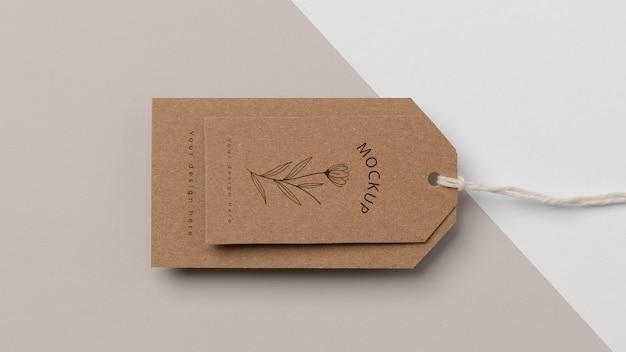 Composition de l'étiquette en carton maquette