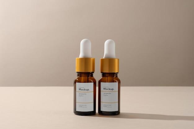 Composition de maquette de compte-gouttes d'huile cosmétique