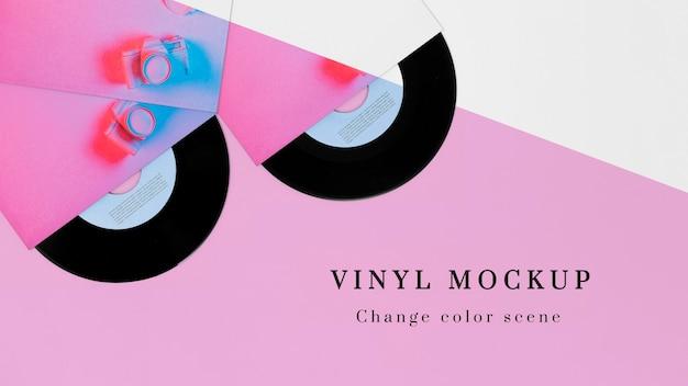 Composition de maquette de disques vinyle