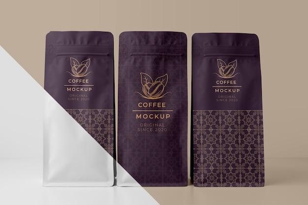 Composition de la maquette des éléments du café