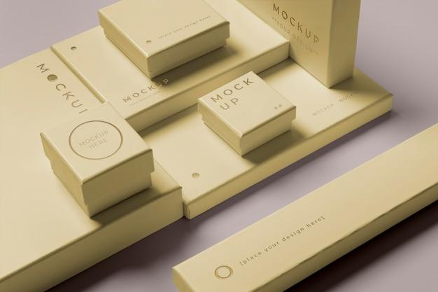 Composition de maquette d'emballage de qualité supérieure
