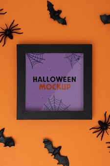 Composition de maquette de frontière d'halloween